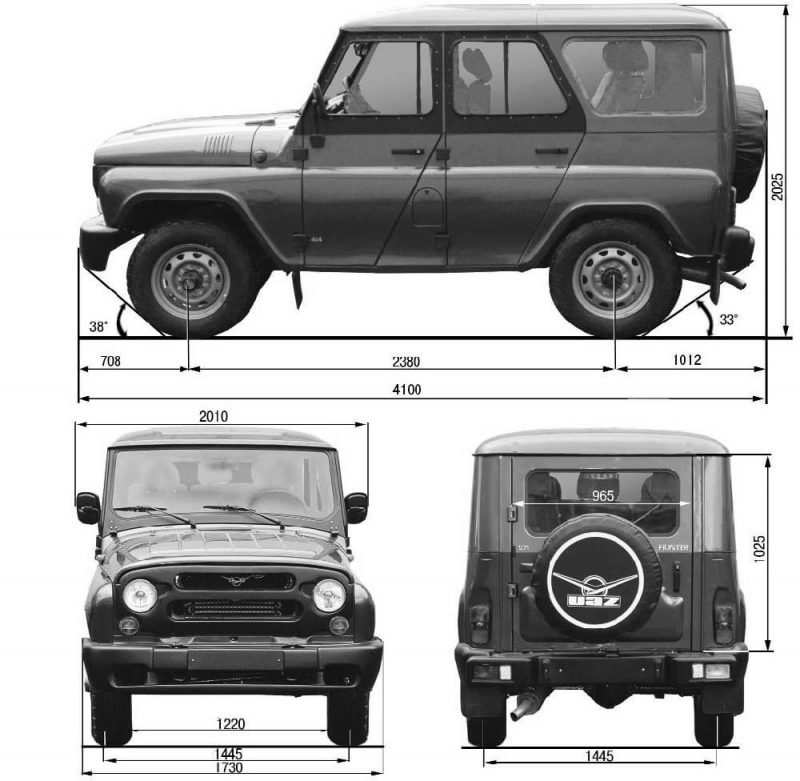 The UAZ Hunter drawing